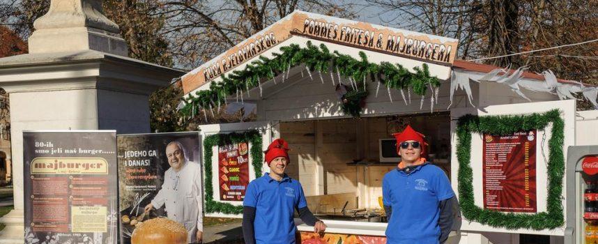 FAST FOOD ODIE U kućici na bjelovarskom Adventu u ponudi legendarni majburger