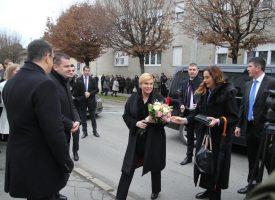 PREDSJEDNICA U BJELOVARU Kolinda preselila Ured predsjednice u zgradu Bjelovarsko – bilogorske županije
