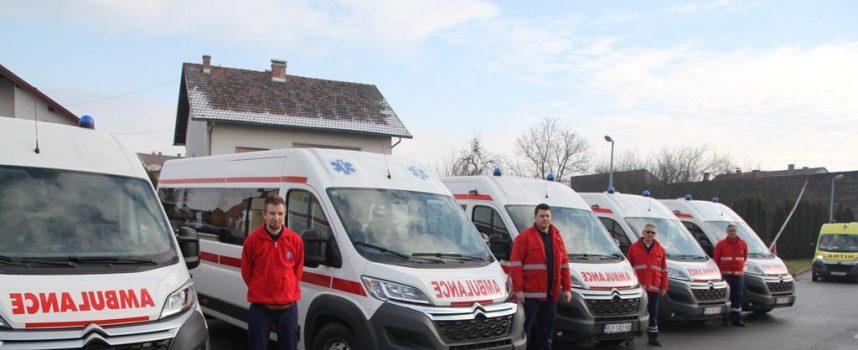 NOVA VOZILA DOMU ZDRAVLJA Flota pojačana s pet novih sanitetskih vozila