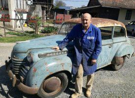 OTKRIVAMO Umirovljenik iz Bjelovara ima najstariji automobil koji je još u voznom stanju