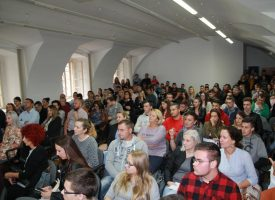 FOTO -VELEUČILIŠTE U BJELOVARU Održano prvo uvodno predavanje za 200 brucoša