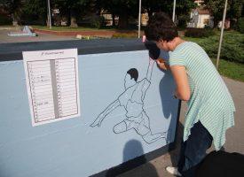 KAD SE MALE RUKE SLOŽE Novi murali ispred Dvorane europskih prvaka