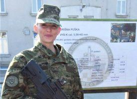 ŽENA U UNIFORMI Ana Vrhovski odradila dvomjesečno ročništvo