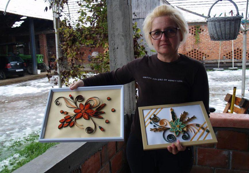 NEOBIČNA TEHNIKA Snježana Grgić quillingom izrađuje mala umjetnička djela