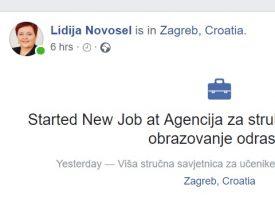 Novo radno mjesto Lidije Novosel