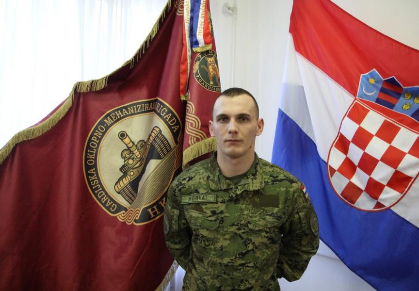 NAJBOLJI HRVATSKI VOJNIK Bjelovarčanin Luka Horvat dobitnik posebnog priznanja
