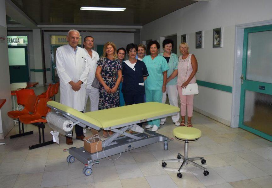 VRIJEDNA DONACIJA KTC bjelovarskoj bolnici donirao vrijednu tretmansku postelju