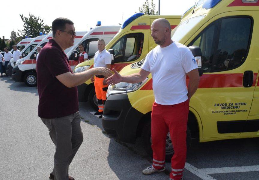 Županija kupila šest novih sanitetskih vozila