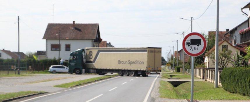 SLOBODAN PROLAZ? Zbog nepostojanja boljeg alternativnog pravca kamioni će moći prolaziti do Bjelovarskog sajma