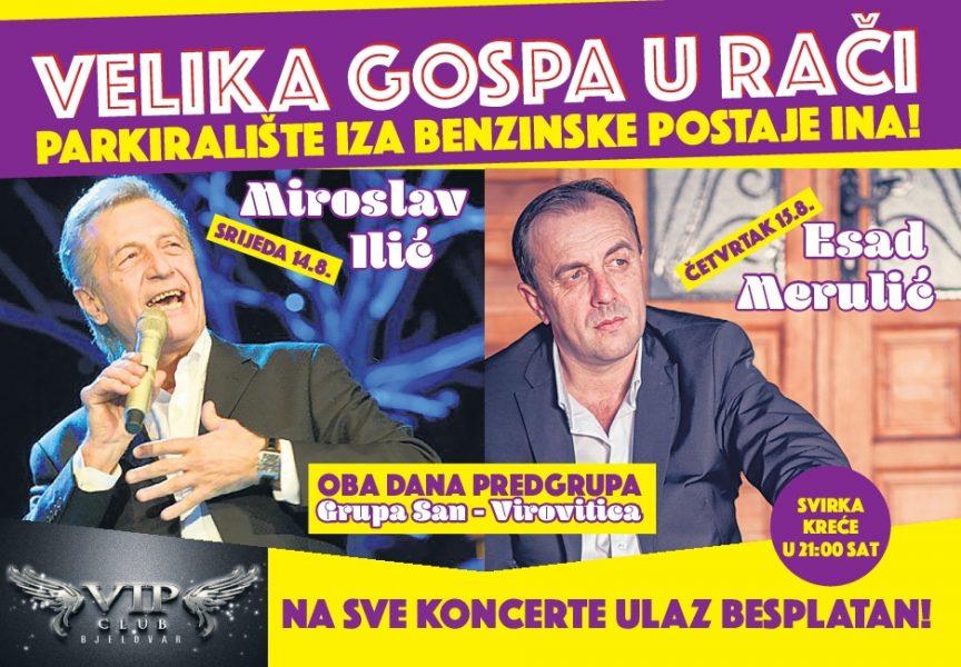 VELIKA GOSPA Miroslav Ilić i Esad Merulić nastupaju u Novoj Rači
