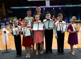 VELIKI USPJEH  Mladi bjelovarski plesači vratili se iz Zagreba s pregršt medalja