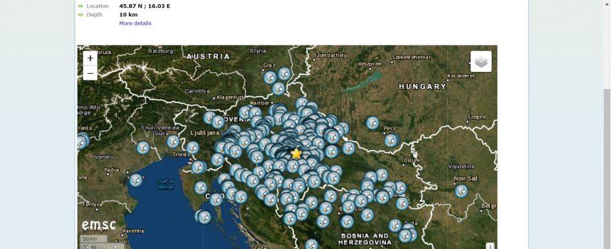 Jak potres u Zagrebu