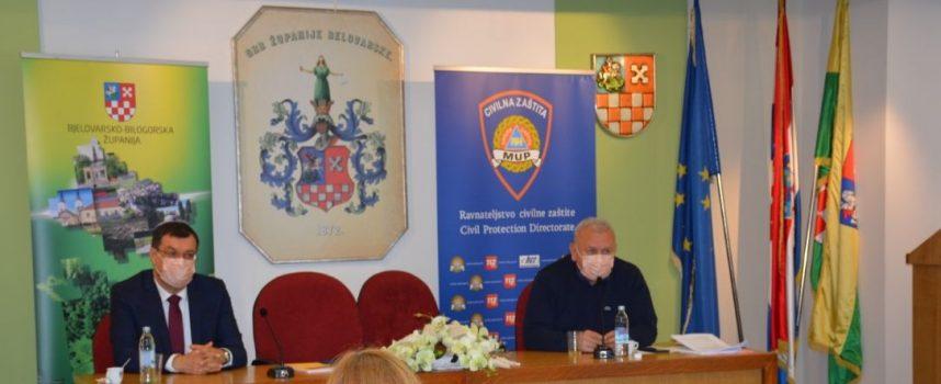 Održana sjednica Stožera civilne zaštite BBŽ-a