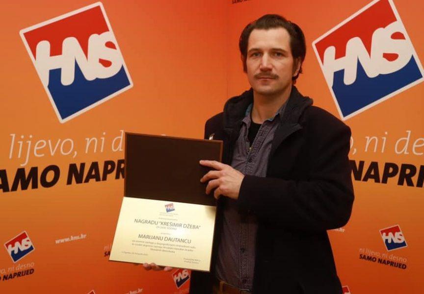 Marijanu Dautancu posthumno nagrada 'Krešimir Džeba'