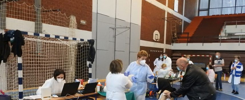 FOTO – U Dvorani europskih prvaka počelo masovno cijepljenje protiv koronavirusa