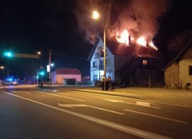 POŽAR U SEVERINU – Izgorio krov i potkrovlje. Ukućani prošli neozlijeđeno. Točan uzrok požara još se otkriva