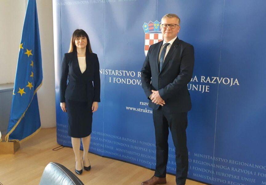 Zoran Bišćan ministrici Tramišak predstavio projekt Aglomeracije